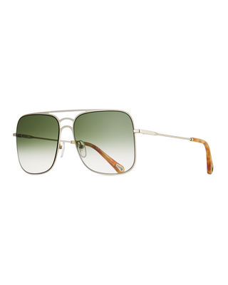 Chloe Ricky Gradient Aviator Sunglasses