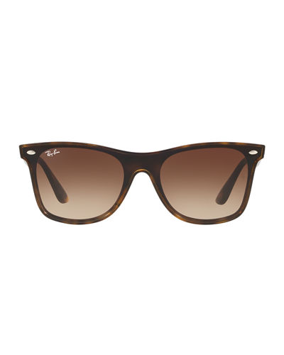 Blaze Wayfarer Lens-Over-Frame Square Sunglasses