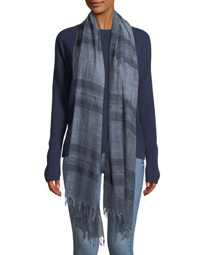 Dreamy Stripe Wool Scarf