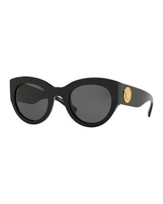Versace Acetate Monochromatic Cat-Eye Sunglasses