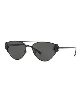 Versace Cat-Eye Metal Barocco Sunglasses