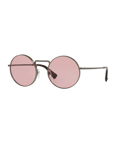 dc2b04bf6d7 Round Filigree Metal Sunglasses
