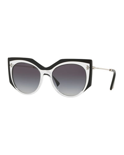 0480f8fd72d Transparent Acetate Gradient Sunglasses