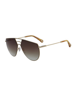 Chloe Ricky Triple Bridge Aviator Sunglasses