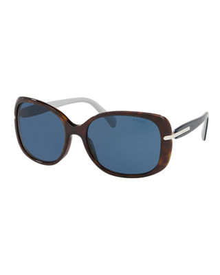 Prada Gradient Rectangle Plastic Sunglasses