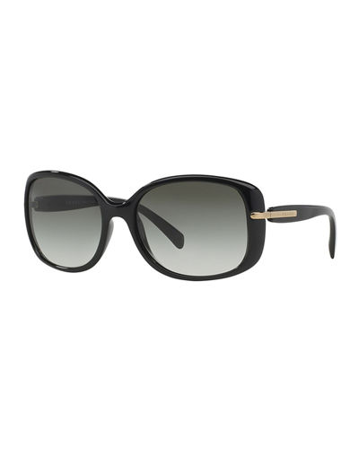 Gradient Rectangle Plastic Sunglasses