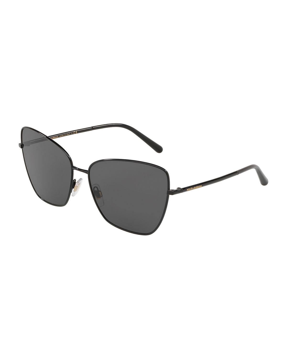 Mirrored Metal Cat-Eye Sunglasses