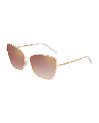 Dolce & Gabbana Mirrored Metal Cat-Eye Sunglasses