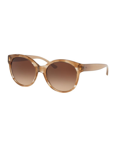 Round Acetate Gradient Sunglasses