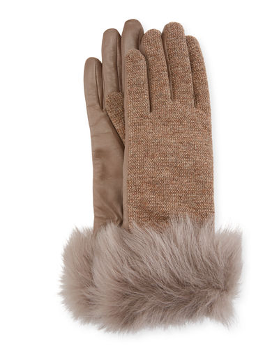 57f155a04 Quick Look. UGG · Knit & Leather Gloves w/ Fur Cuffs