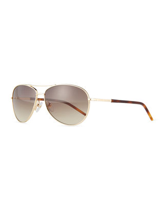 Marc Jacobs Metal Curved-Brow Aviator Sunglasses