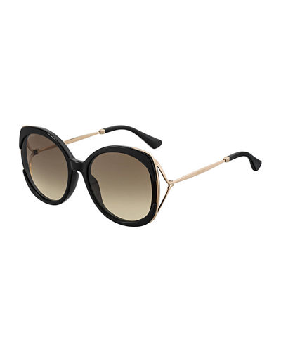 Lilas Square Gradient Open-Temple Sunglasses