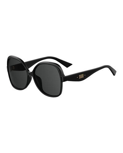 Square Monochromatic Sunglasses