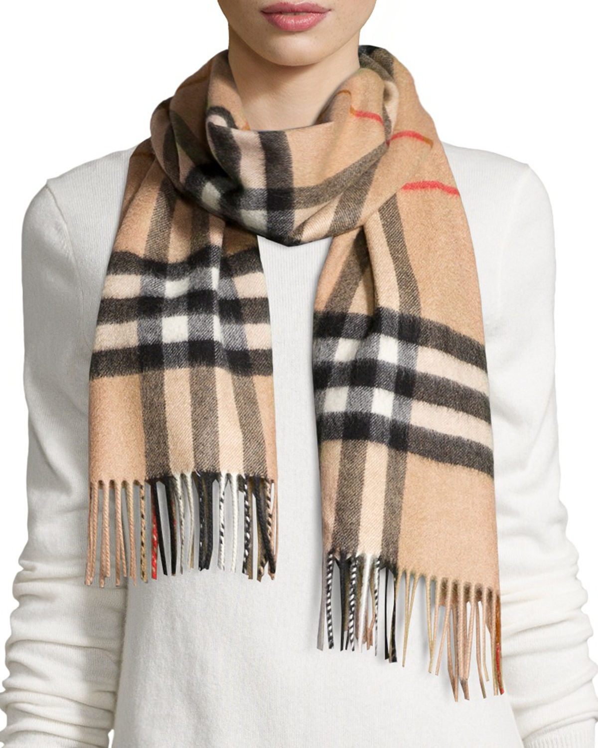 reputable site clearance prices newest Giant-Check Cashmere Scarf