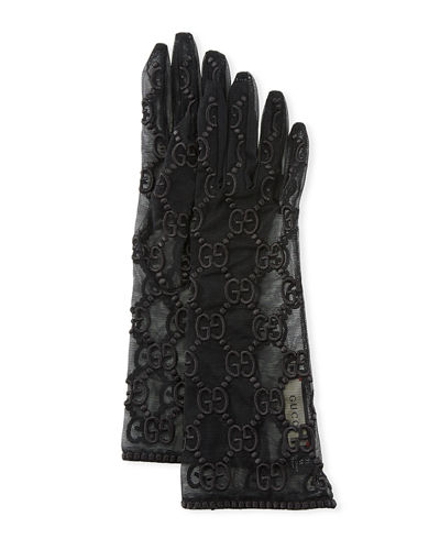 Silk Tulle GG Motif Gloves