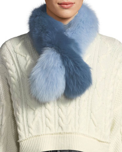 Polly Pop Two-Tone Fur Slip-Through Scarf