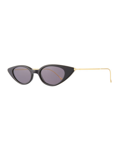 Marianne Cat-Eye Acetate & Steel Sunglasses