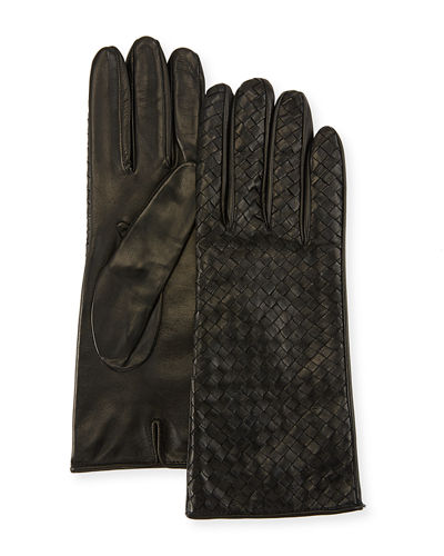 Woven Napa Leather Gloves