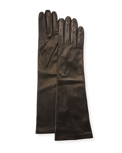 Long Napa Leather Gloves