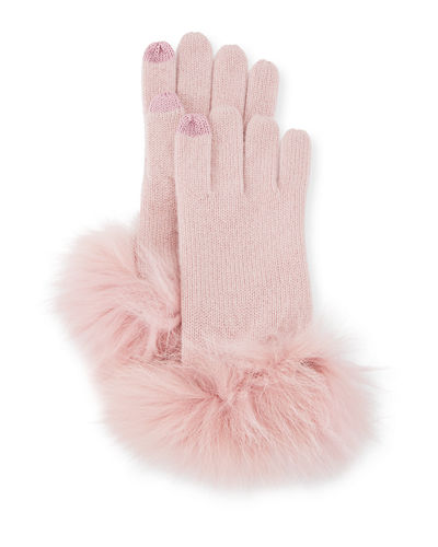 Cashmere Gloves w/ Fur Cuffs