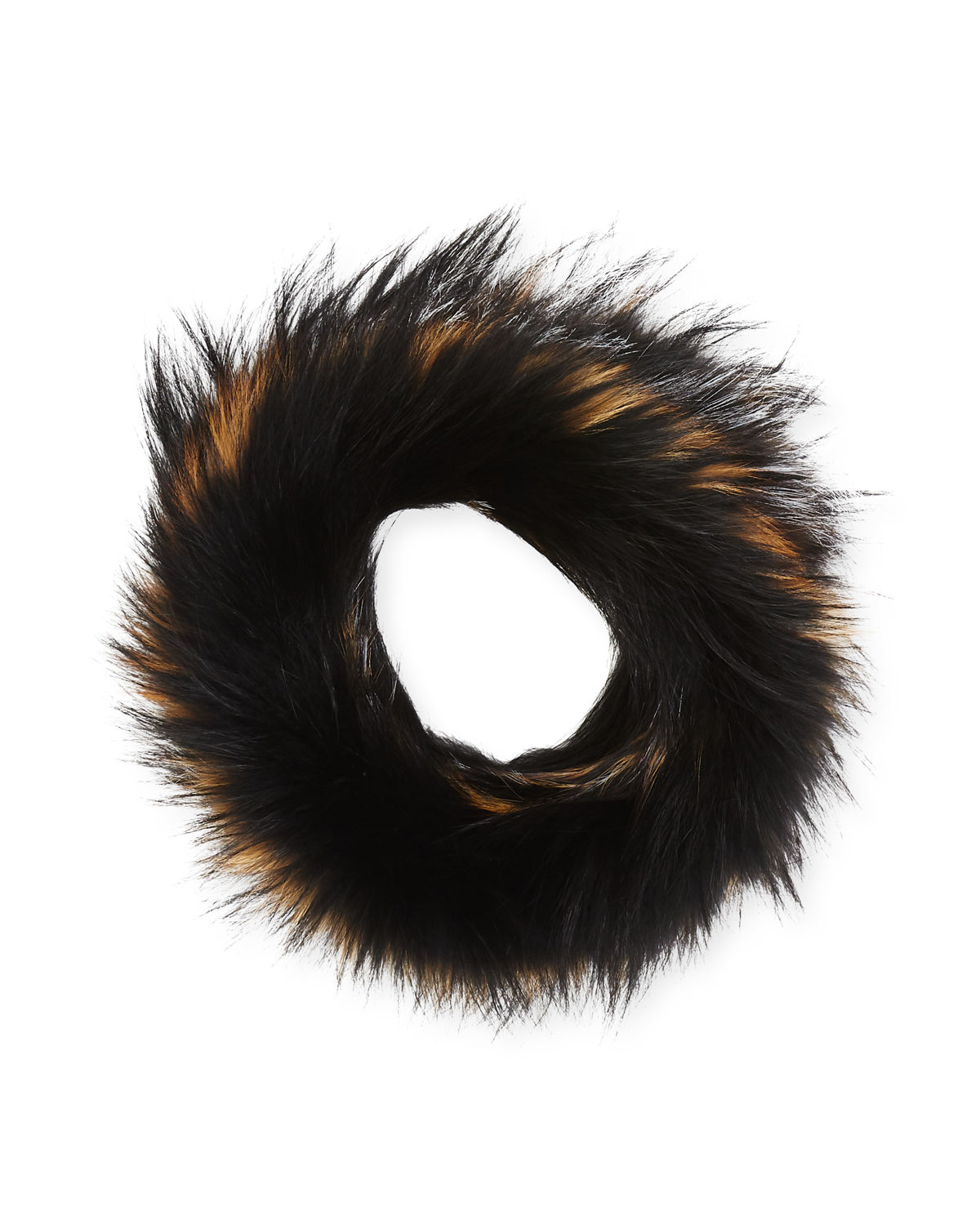 Textile Knit Fur Infinity Scarf