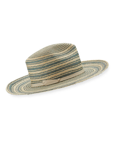 Somba Patterned Straw Fedora Hat