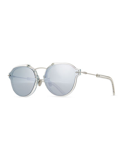DiorEclat Round Mirrored Sunglasses