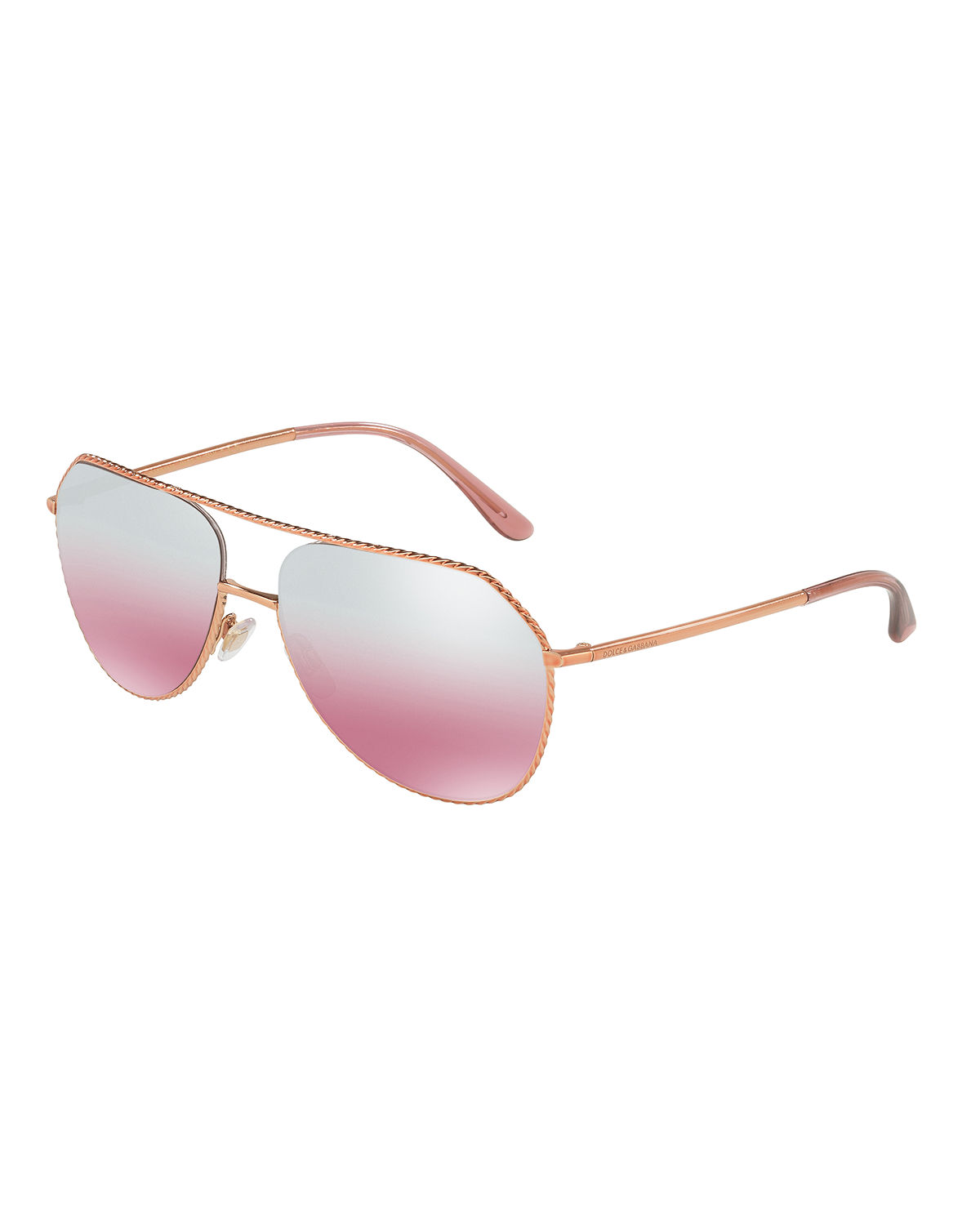 Braided Metal Aviator Sunglasses
