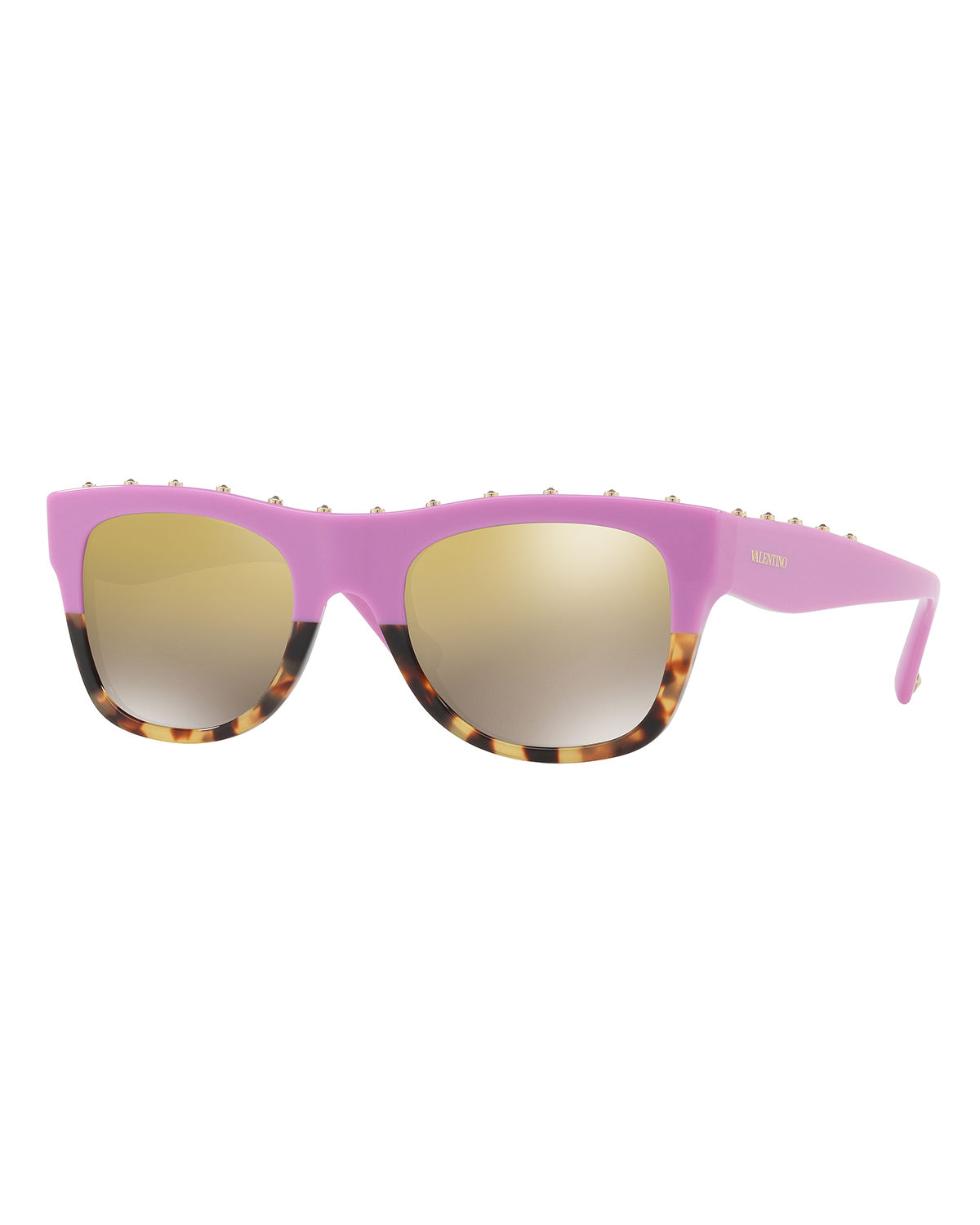 Rockstud Two-Tone Square Sunglasses