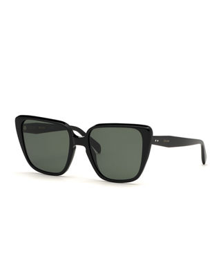 Cat Eye Acetate Sunglasses by Celine