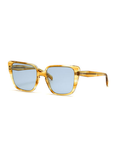 Cat-Eye International-Fit Acetate Sunglasses