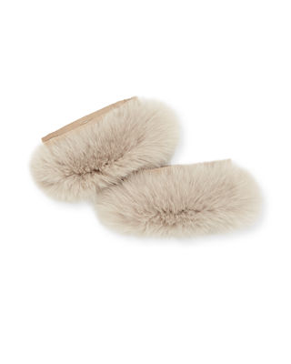 Here Is The Cube Collection Susanna Detachable Fur Cuffs in Sand