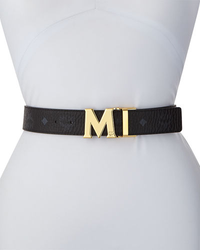 Reversible M-Buckle Belt - Golden Buckle