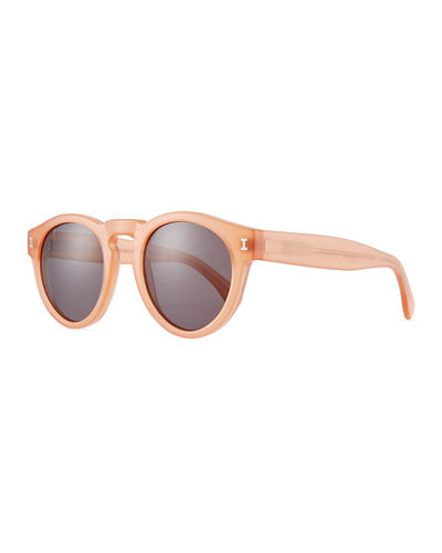 Leonard Slim-Fit Round Mirrored Sunglasses