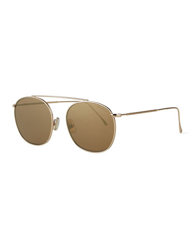 Mykonos II Steel Aviator Sunglasses