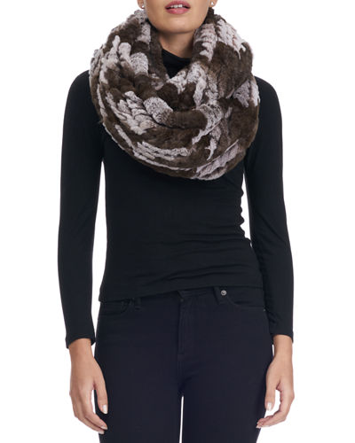 32e6fc3eb Quick Look. Gorski · Knit Fur Infinity Scarf