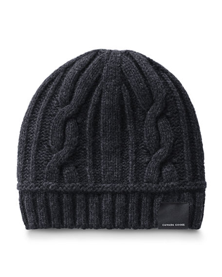Canada Goose Cable Knit Toque Beanie Hat Neiman Marcus