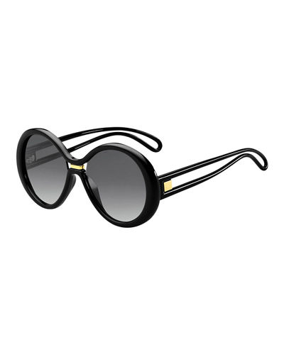 Round Cutout Gradient Sunglasses