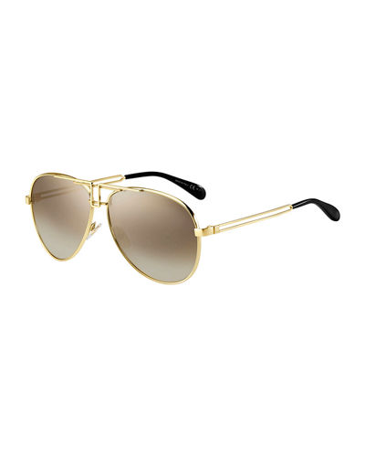 Metal Cutout Aviator Sunglasses
