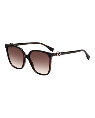 Women'S Square Sunglasses, 57Mm in Dark Havana