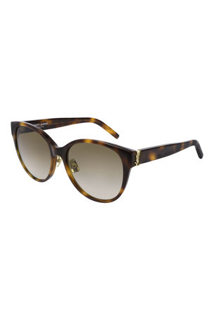 Saint Laurent SL M39 Rounded Acetate Sunglasses