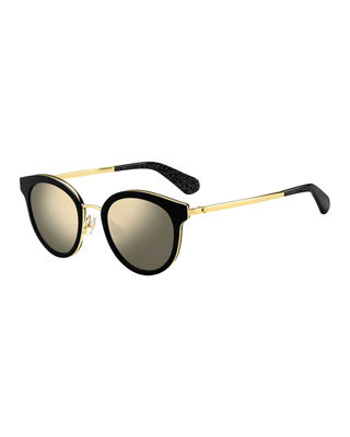 Lisanne 50Mm Special Fit Round Sunglasses - Black