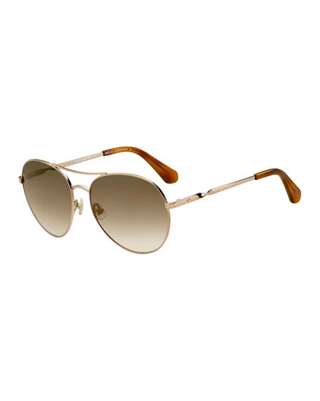 kate spade new york joshelles aviator twist-arm sunglasses