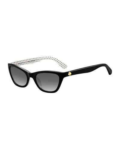 johnetas polka-dot cat-eye sunglasses