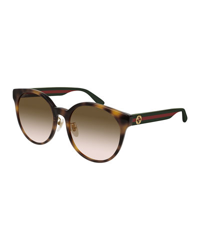 dc23b5a687c Quick Look. Gucci · Round Web-Arms Acetate Sunglasses. Available in Black