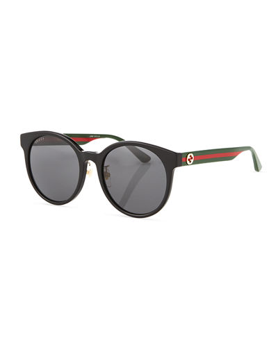 Round Web-Arms Acetate Sunglasses