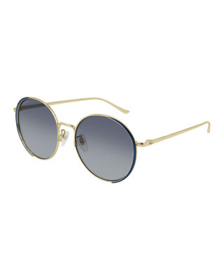 Round Metal Sunglasses by Gucci