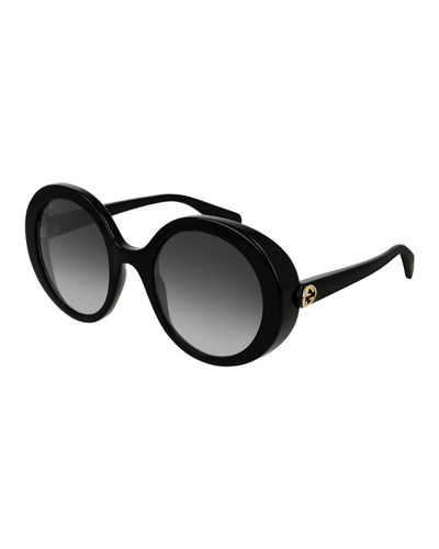Round Injection Gradient Sunglasses