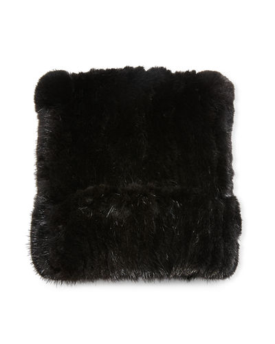 Mink Fur Knitted Beanie Hat