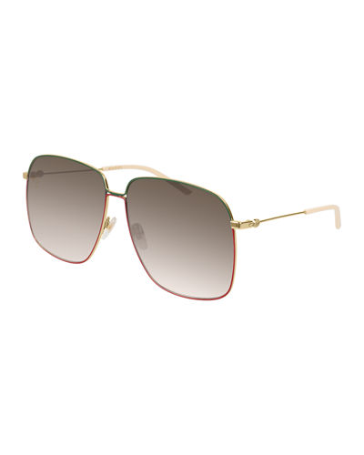 Square Metal Sunglasses w/ Web Ear Tips